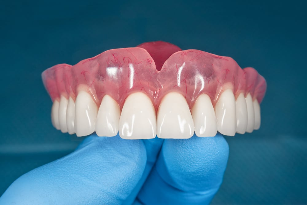 set of new dentures