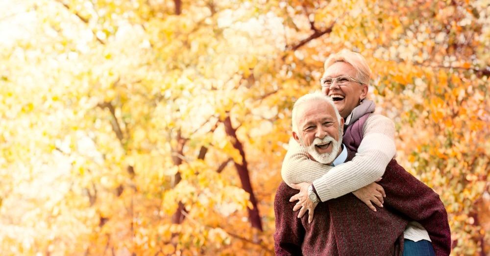 mature couple both wear dentures