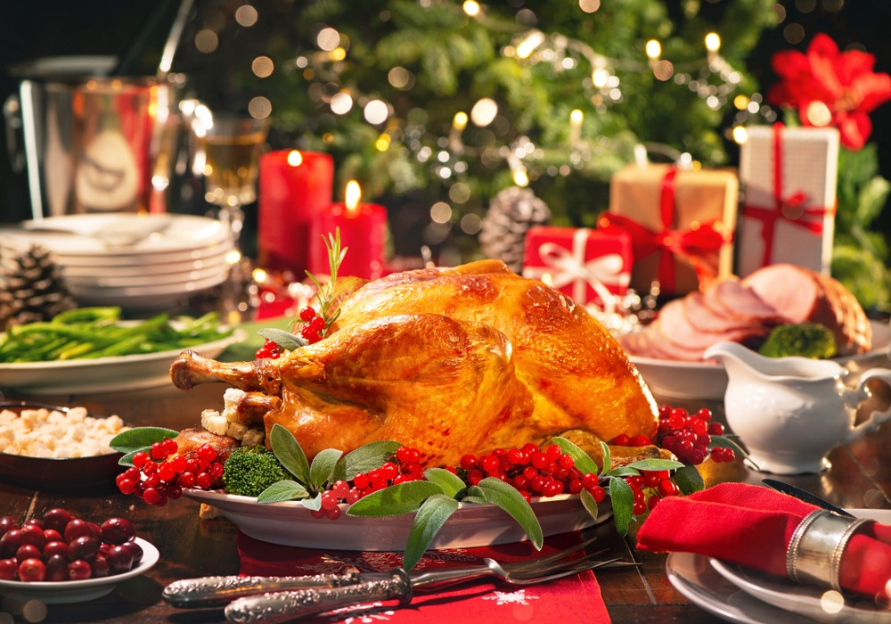 christmas dinner at the holidays