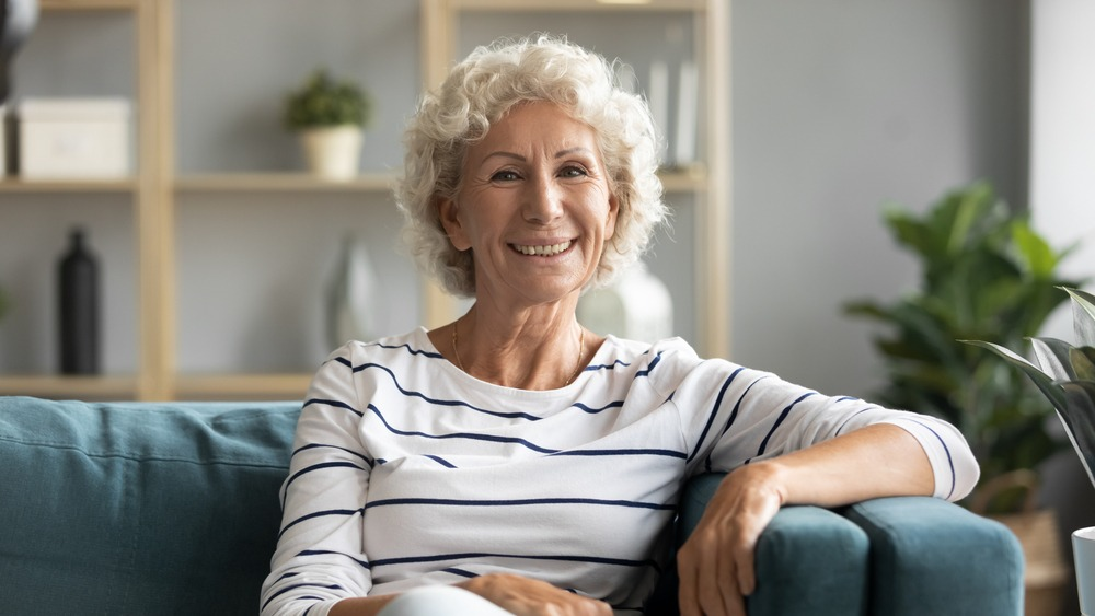 woman with dentures in ottawa