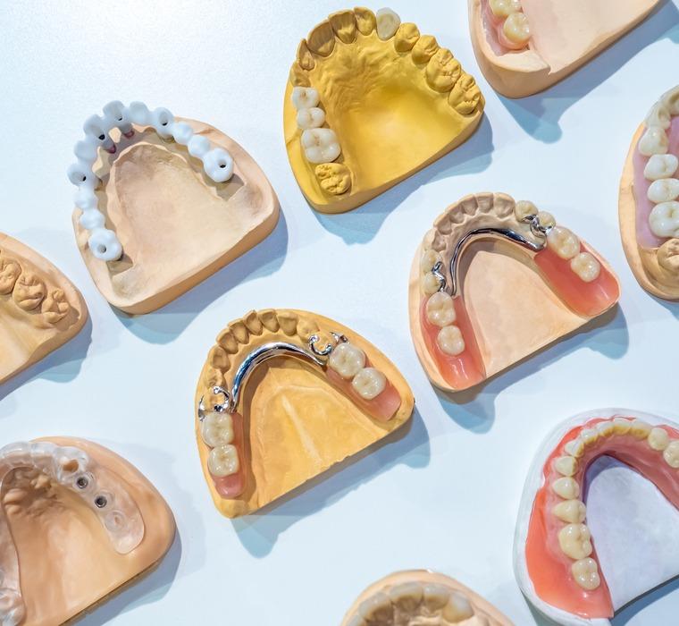 different types of dentures